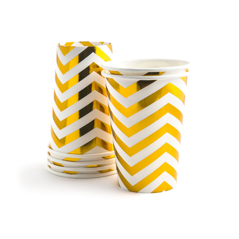 Vaso chevron Gold