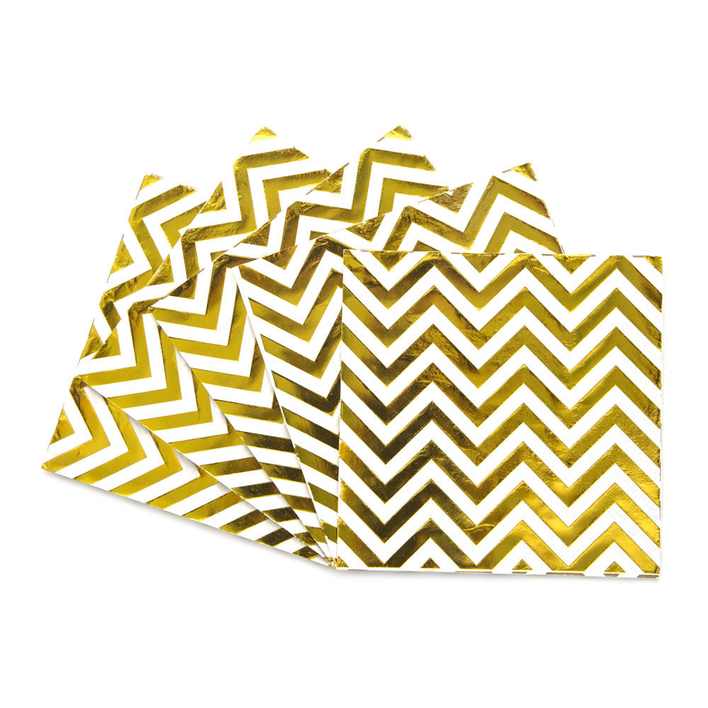 Servilletas Gold chevron