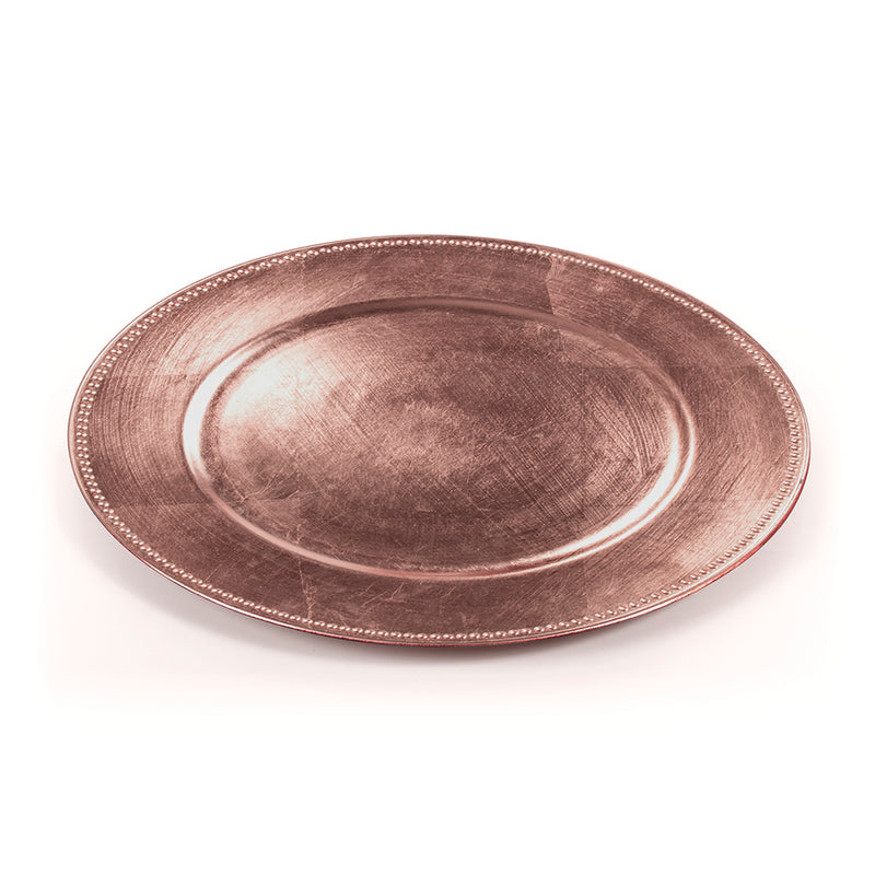 Plato Premium descartable Bronce