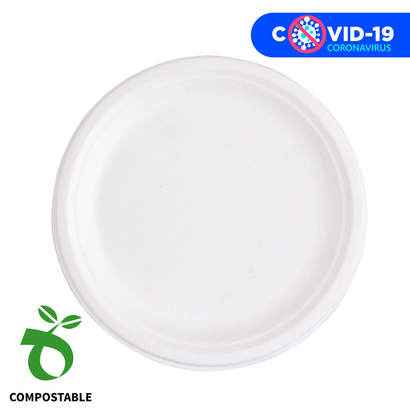 "Eco Party Platos Grande ""Compostable"""