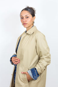 90's Polo Ralph Lauren Tan Car Jacket, Large