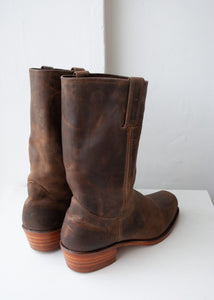 Frye Matte Brown Leather Campus Boots, Size 13