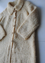Load image into Gallery viewer, Cream Wool Handmade Robe Cardigan, l-xl