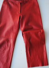 Load image into Gallery viewer, BCBG Red Leather Pants, Size 6