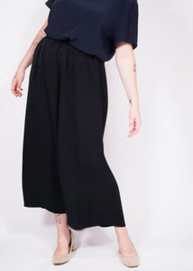 90's Banana Republic Black Silk Maxi Skirt, 29-30""