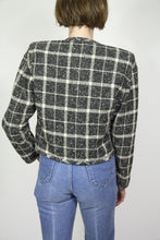Load image into Gallery viewer, Emanuel Ungaro Plaid Bolero, Large