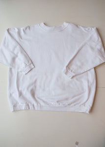 Gitano White Cotton Sweatshirt, Large