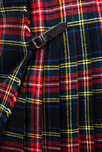 Load image into Gallery viewer, Black Wool Plaid Kilt, 28""