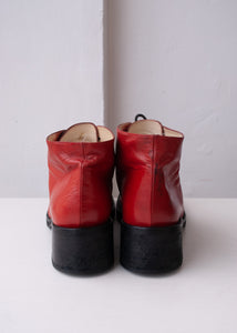 90's Baldinini Candy Red Ankle Boots, Size 11-11.5