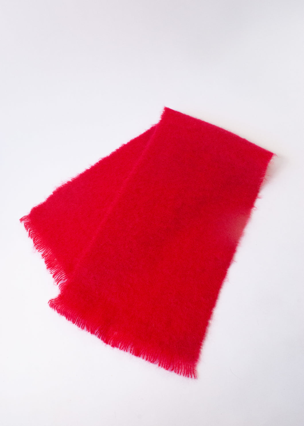 Avoca Handweavers Red Mohair Scarf
