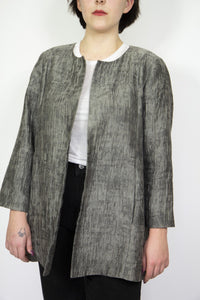 Textured Slate Grey Eileen Fisher Jacket, Large