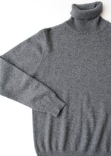Load image into Gallery viewer, Grey Cashmere Turtleneck, Medium
