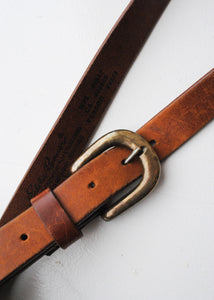 Eddie Bauer Tan Leather Belt, 32""