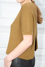 Load image into Gallery viewer, Max Mara Weekend Ochre Back Slit Knit, Medium
