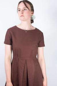 Sophie D'Hoore Rust Cotton Dress, Size 8