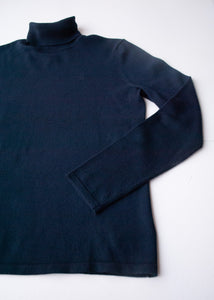 Ralph Lauren Navy Merino Turtleneck, Large