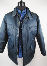 Load image into Gallery viewer, Slate Blue Vintage Winter Jacket, Large