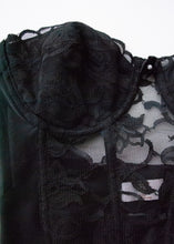 Load image into Gallery viewer, Vintage Black Lace Bustier, 34B