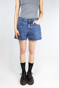 Dark Wash Lee Jean Shorts, 26""