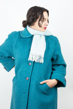 Load image into Gallery viewer, Turquoise D'Allairds Wool Car Coat, L-XL