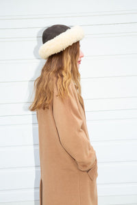 Votre Nom Camel Overcoat, Medium