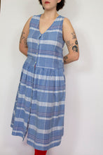 Load image into Gallery viewer, Plaid Cotton Dress, Large