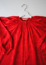 Load image into Gallery viewer, Red Silk Peasant Blouse, Small