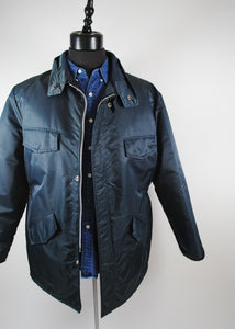 Slate Blue Vintage Winter Jacket, Large