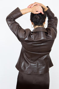 90's Brown Danier Leather Jacket, Sm-Med