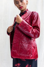 Load image into Gallery viewer, 90's Gap Scarlet Red Leather Blazer, Medium