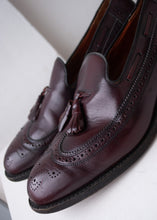 Load image into Gallery viewer, Oxblood Dack's Brogue Tasseled Loafers, Size 10.5