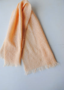 Oversized Pale Peach Mohair Scarf