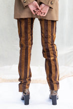 Load image into Gallery viewer, Dolce & Gabbana Striped Suede Trousers, 25""