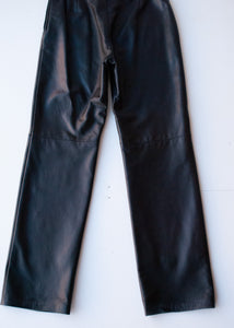"Danier Black Leather Pants, 29""/ Size 4"