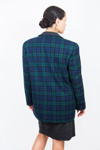 Pendleton Plaid Wool Blazer, L-XL