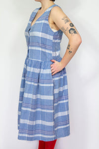Plaid Cotton Dress, Large