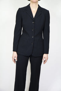 Charcoal Striped Giorgio Armani Suit, 6
