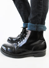 Load image into Gallery viewer, Black Combat Boots, Size 10