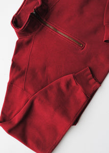 Zippered Red Sweatshirt, Medium