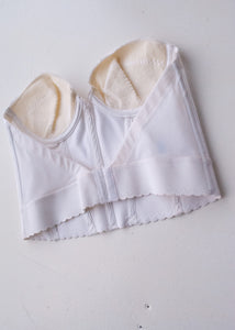 White Satin Bustier, 36A
