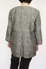 Load image into Gallery viewer, Textured Slate Grey Eileen Fisher Jacket, Large
