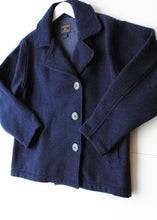 Load image into Gallery viewer, Woolrich Navy Wool Cropped Coat, Medium