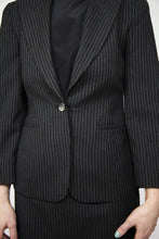 Load image into Gallery viewer, Pinstriped Wool Jil Sander Skirt Suit, Size 6