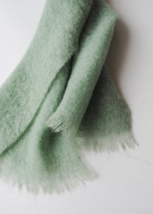 Large Mint Mohair Scarf
