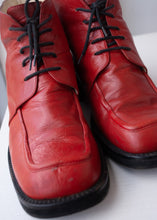 Load image into Gallery viewer, 90's Baldinini Candy Red Ankle Boots, Size 11-11.5