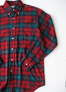 LL Bean Flannel Oxford, Sm-Med