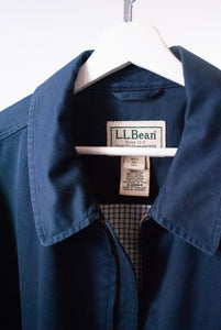 LL Bean Navy Cotton Sports Jacket, XL