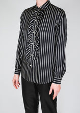 Load image into Gallery viewer, Striped Ruffled Ralph Lauren Silk Blouse, Large