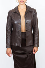 Load image into Gallery viewer, 90's Brown Danier Leather Jacket, Sm-Med