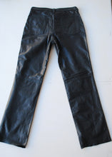 "Load image into Gallery viewer, Navy Banana Republic Leather Jeans, 30""/ Size 6"